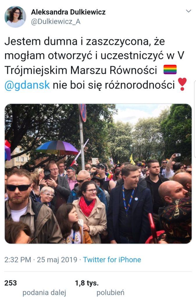 Rafał Ziemkiewicz Dulkiewicz Twitter, Marsz równości w Gdańsku, Sakrament jako wagina