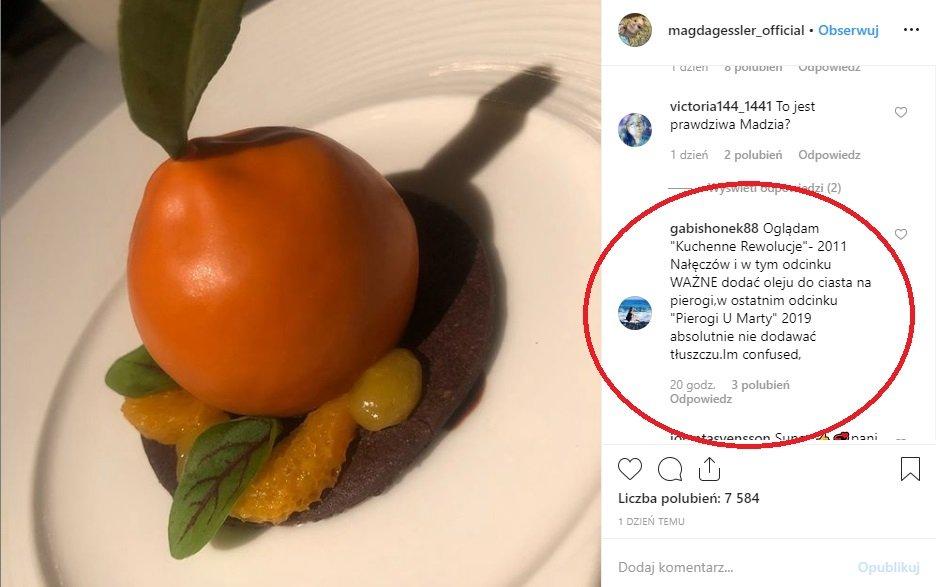 Kuchenne Rewoucje TVN, Magda Gessler, pierogi, Instagram