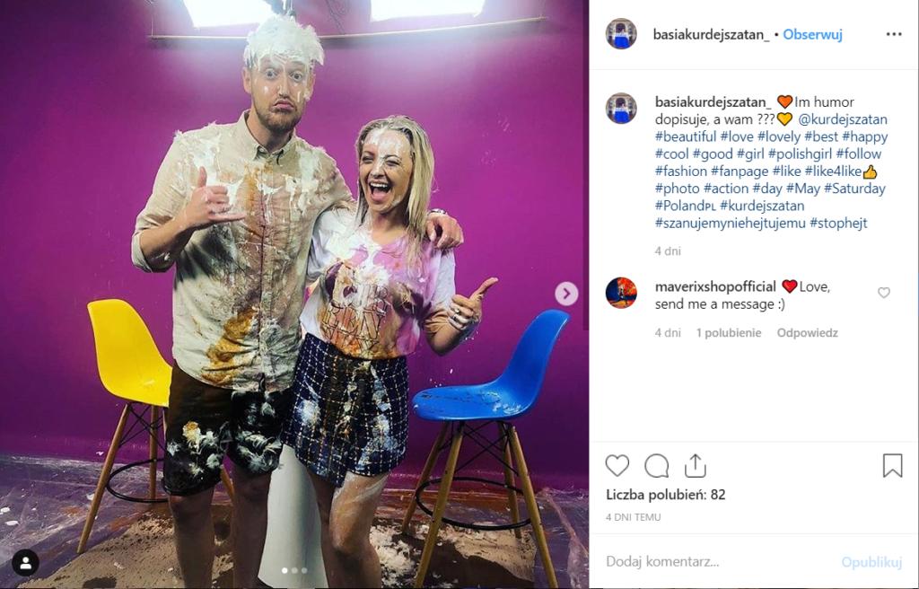 Mokra Kurdej- Szatan w programie Wielka Wylewka w 4fun.tv. Barbara Kurdej- Szatan (m.in. M jak Miłość) podzieliła się efektami na portalu Instagram.