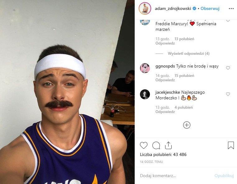 Adam Zdrójkowski w swoje urodziny na Instagram wrzucił zdjęcie. Kuba z serialu Rodzinka.pl (TVP) dodał obleśne zdęcie. Co na to Wiktoria Gąsiewska?