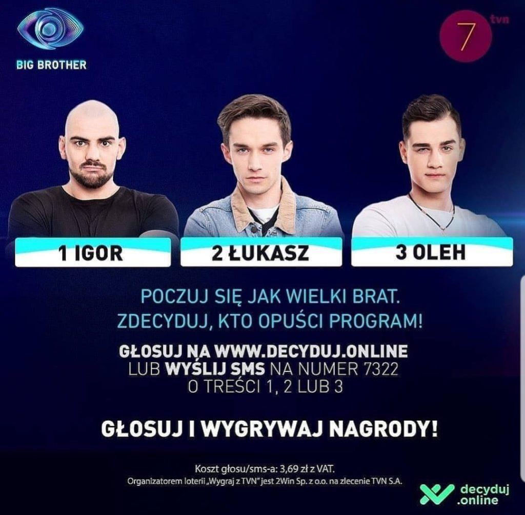 Skandal w reality show Big Brother TVN, Teraz na widelec zostali wzięci Igor, Oleh i Łukasz, a dom Wielkiego Brata zadrżał w posadach