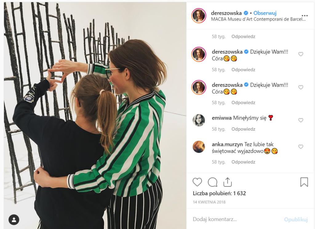 Anna Dereszowska (Odwróceni, Barwy Szczęścia) oznajmiła, że jej córka jest chora! Jej wada wzroku się pogłębia, nie obejdzie się bez operacji.
