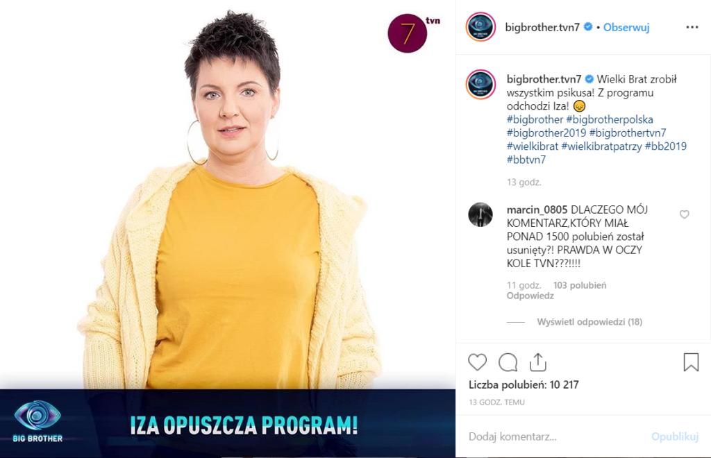 Big Brother nominacje: Tym razem to Iza Mączka oraz Łukasz Darłak. W popularnym programie TVN7, Wielki Brat zadrwił z widzów! Zobacz również ich Insta.