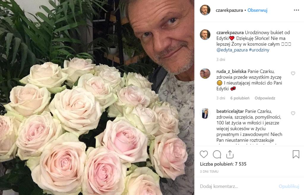 Cezary Pazura obchodzi urodziny niespodzianka go zachwyciła. Edyta Pazura dzieli się tym na portalu Instagram. Ostatnio triumfy święci Pazura Q&A na YouTube