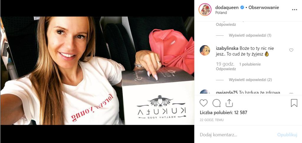 Doda (Dorota Rabczewska) powiedziała na Instagram jaka jest jej dieta. Ile waży Doda? Jaki wpływ na nią mają ostatnie oskarżenia o szantaż?