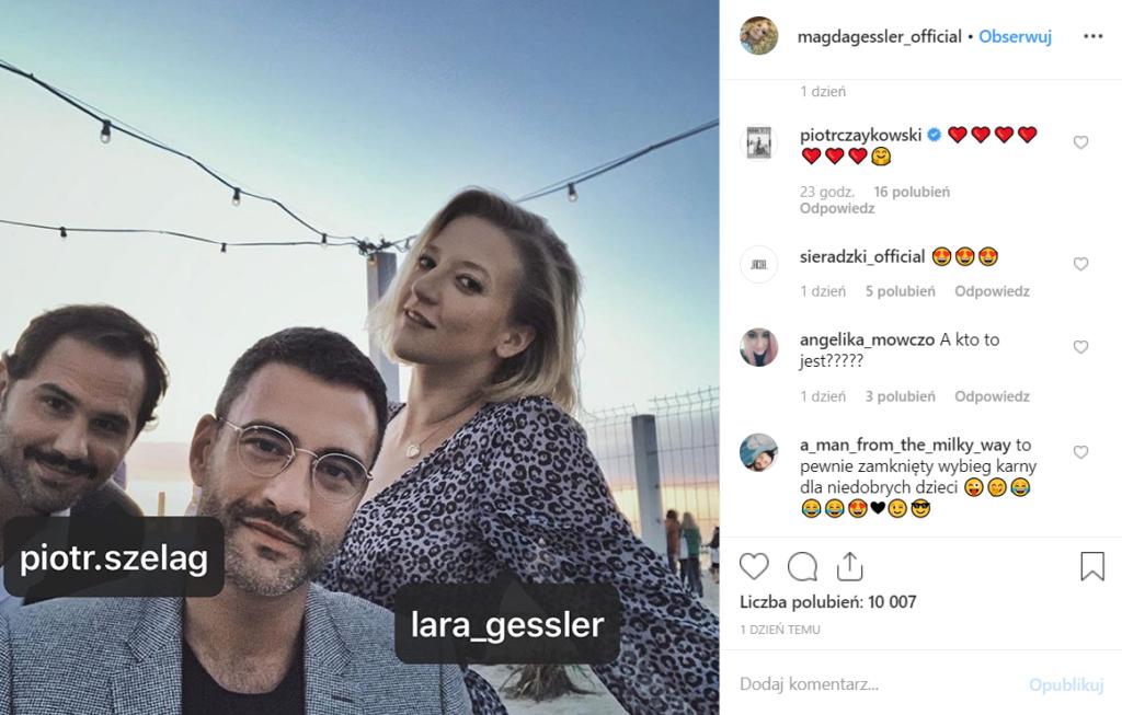 """Czy Gessler ma romans? Prowadząca """"Kuchenne Rewolucje"""", udostępniła zdjęcie na Instagram, na nim Lara Gessler wraz z mężczyzną, którym jest Piotr Czaykowski"""