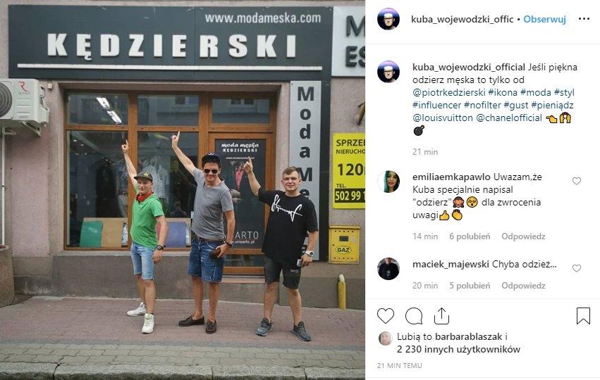 Kuba Wojewódzki i wpadka na Instagram, gwiazda TVN popełniła straszny błąd wrzucają to zdjęcie, Jeden z internautów go upokorzył