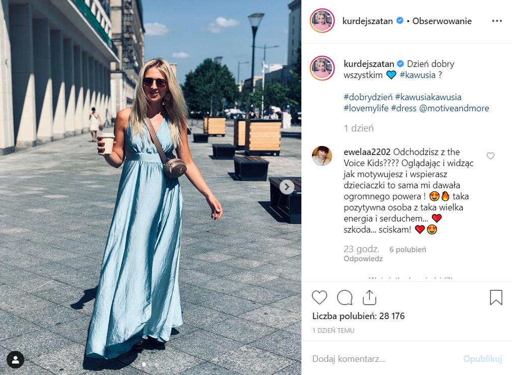 Kurdej Szatan (M jak Miłość, TVP) odejdzie najprawdopodobniej z The Voice Kids. Fani gwiazdy reklam Play pytają zrozpaczeni na Instagram, czy to prawda?