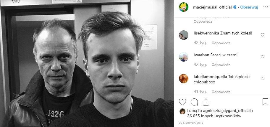 MAciej Musiał ujawnił kim jest jego ojciec, okazuje się że to Andrzej Musiał. Odtwórca jednej z rol w Rodzinka.pl dodal foto na instagram