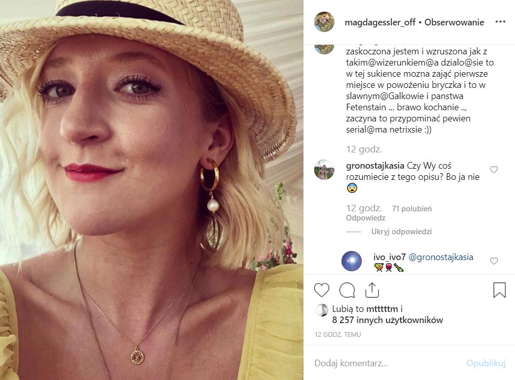 Magda Gessler (Kuchenne rewolucje, TVN) upokarza się na Instagram, czy to alkohol był przyczyną? Co na to jej córka Lara Gessler?