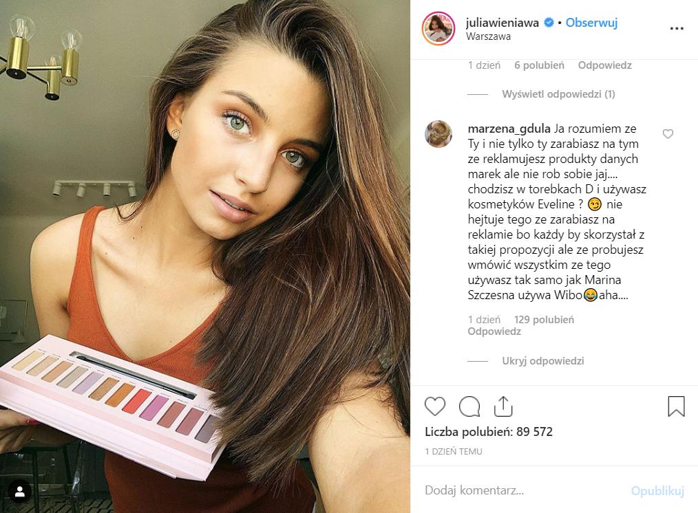 Julia Wieniawa (Rodzinka.pl, TVP) została oskarżona o kłamstwo. Wszystko przez zdjęcie na Instagram, partnerka Barona musiała się mocno tłumaczyć.
