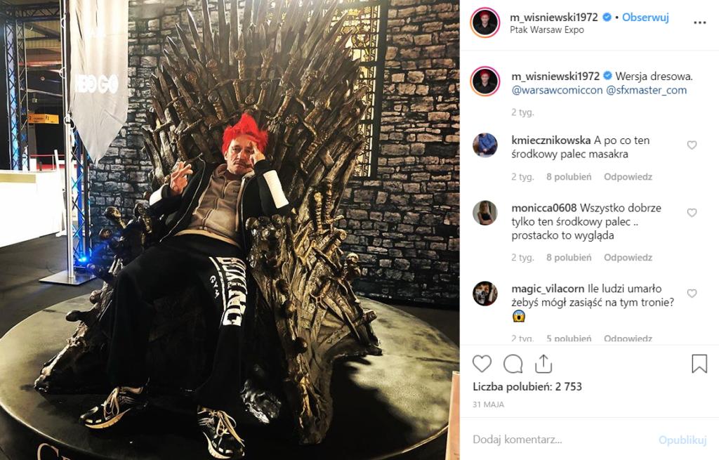 Michał Wiśniewski (Ich Troje) wywołał skandal na warszawkim Comic Con, zobacz na Instagram. W zeszłym roku dowiedzieliśmy się, że Michał to bankrut.