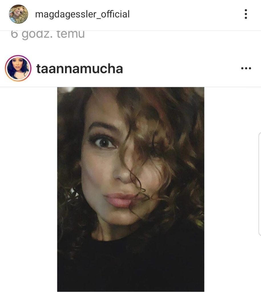 Anna Mucha szokuje na portalu instagram. Magda Gessler (Gwiazda TVN i show Kuchenne Rewolucje) komentuję  zdjęcie aktorki TVP i M jak Miłość.
