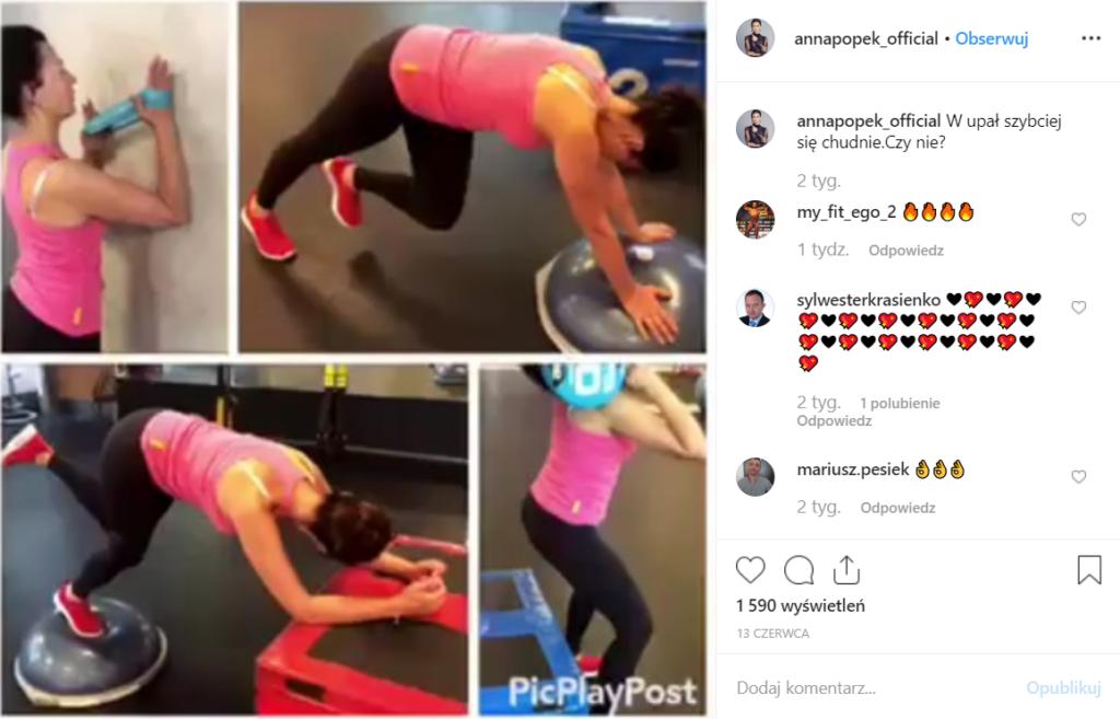 """Anna Popek prowadząca między innymi takie programy jak """"Pytanie na śniadanie, czy """"Wstaje dzień"""" na antenach stacji TVP pokazała się w bikini na Instagram."""
