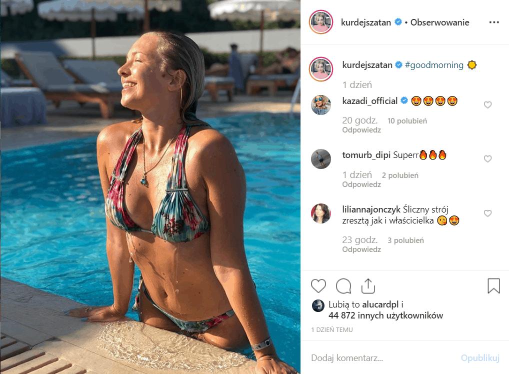 """Kurdej Szatan w bikini na Instagram, mocno kusi! Po zwolnieniu z TVP, gwiazda serialu """"M jak miłość"""", wystąpi w show Polsatu """"Taniec z Gwiazdami""""."""