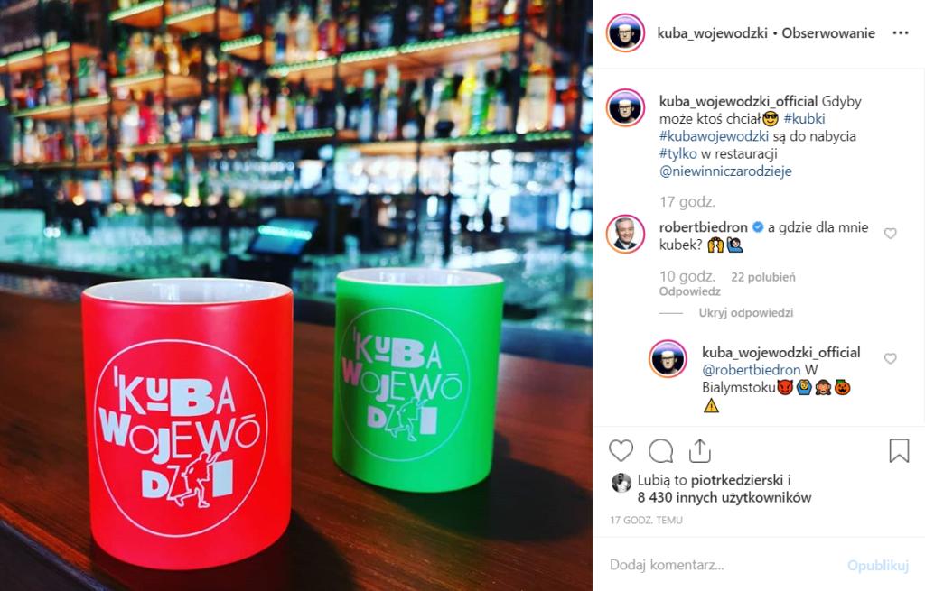 Kuba Wojewódzki o swojej restauracji Niewinni Czarodzieje na Instagram, Biedroń to skomentował. Lider ugrupowania Wiosna został wyszydzony przez gwiazdę TVN