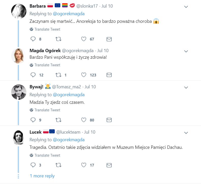 Magdalena Ogórek (Studio Polska, Minęła dwudziesta, TVP Info) została zapytana na portalu Twitter, czy toczy ją anoreksja. Ostra Odpowiedź!