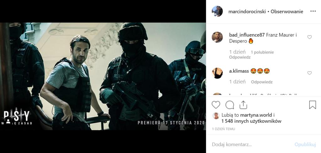 Psy 3: Wiemy już kiedy premiera filmu. Marcin Dorociński podzielił się tym na Instagram. Reżyserem jest Władysław Pasikowski, w obsadzie jest Bogusław Linda