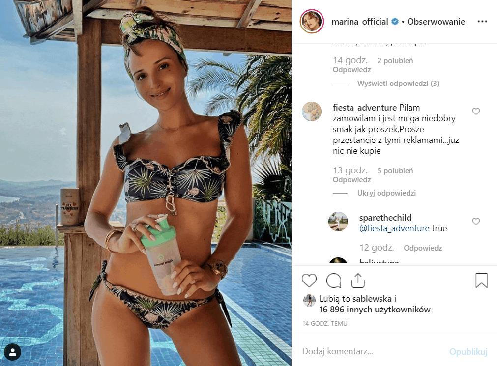 """Dieta: Marina promienieje na Instagram, Wojciech Szczęsny może być dumny z żony. Niedługo premiera 2 sezonu serialu TVN, """"39 i pół""""."""