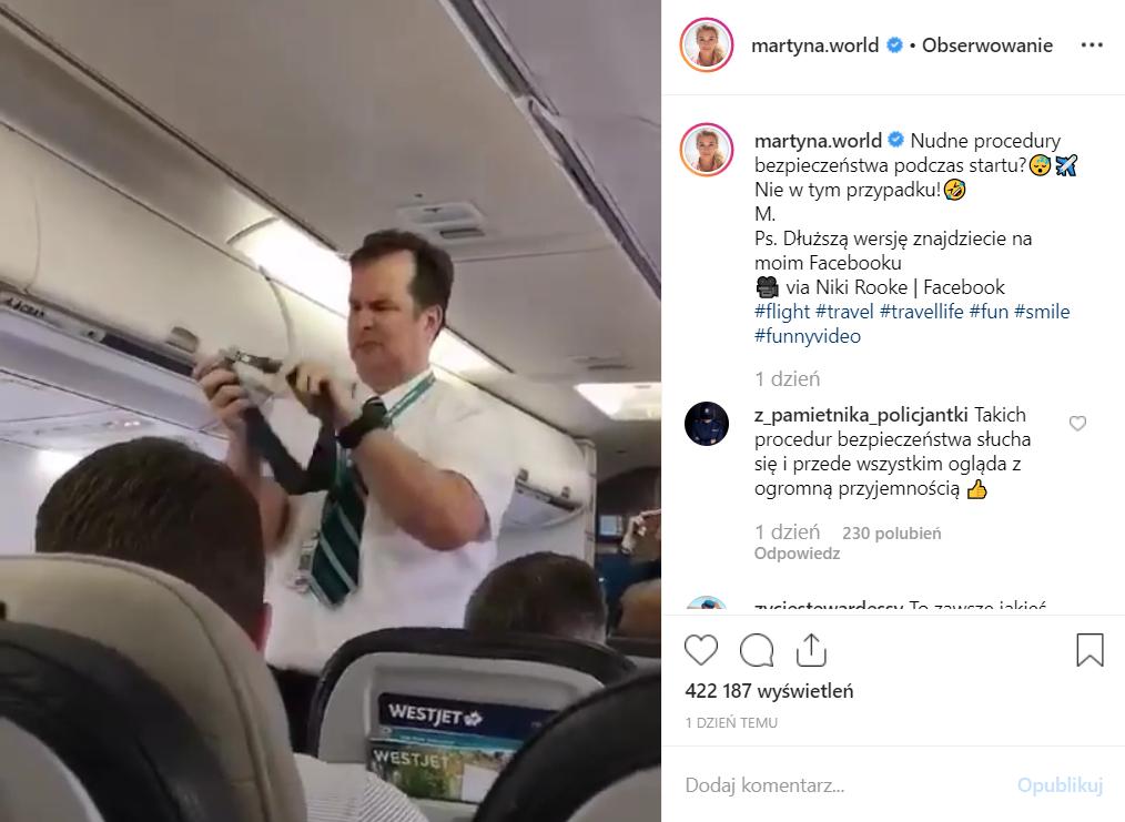 Martyna Wojciechowska (Kobieta na krańcu świata, TVN) kojarzona jest przez podróże, teraz dzieli się śmiesznym filmem na portalach Facebook i Instagram.