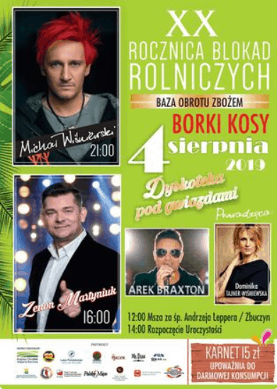 Wiśniewski (Ich Troje) i Tajner biorą rozwód, ale pojawią się na tej samej imprezie, koncert zainspirowany jest przez śmierć Andrzeja Leppera.