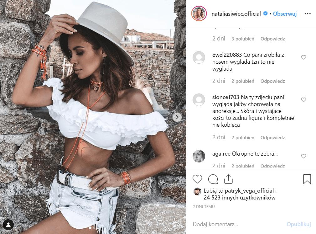 Natalia Siwiec przeraźliwie szczupła, czy to anoreksja? Miss Euro 2012 pokazała się na Instagram podczas wakacji na Mykonos.