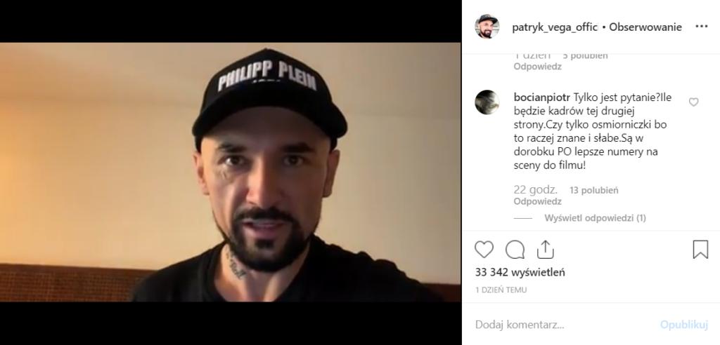 """Patryk Vega straszy PO w nowym klipie z filmu """"Polityka"""" na Instagram. Nie tylko PiS obrywa, Grzegorz Schetyna będzie wściekły!"""