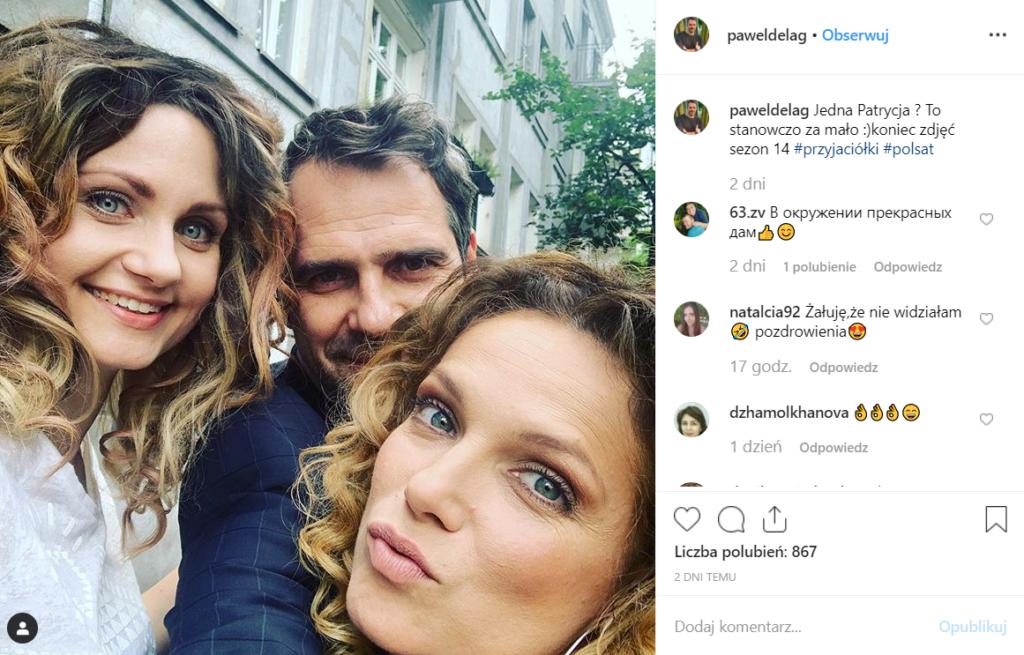 """Joanna Liszowska odchodzi z serialu Przyjaciółki (Polsat)? Paweł Deląg sugeruje to na Instagram. Ostatnio aktorka wydała pierwszy singiel """"Into u""""."""