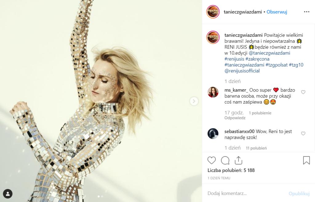 """Jusis dołącza do Kurdej Szatan i Rudej z Red Lips do gwiazd show """"Taniec z gwiazdami"""" (Polsat). Poinformowano o tym na oficjalnym koncie na Instagram."""