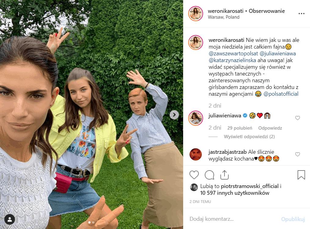 """Już można zobaczyć zwiastun """"Zawsze warto"""" (Polsat). W obsadzie Weronika Rosati, Katarzyna Zielińska i Julia Wieniawa. Zwiastun można obejrzeć na Instagram."""