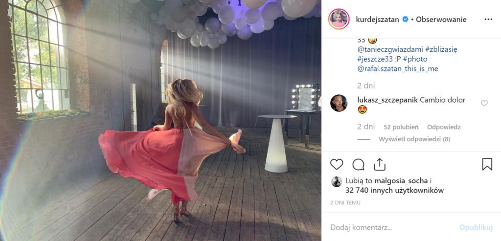 Barbara Kurdej Szatan Taniec z gwiazdami: gwiazda M jak Miłość (TVP) niezadowolona z sytuacji w Polsat, zaraz po zwolnieniu z The Voice of Poland.