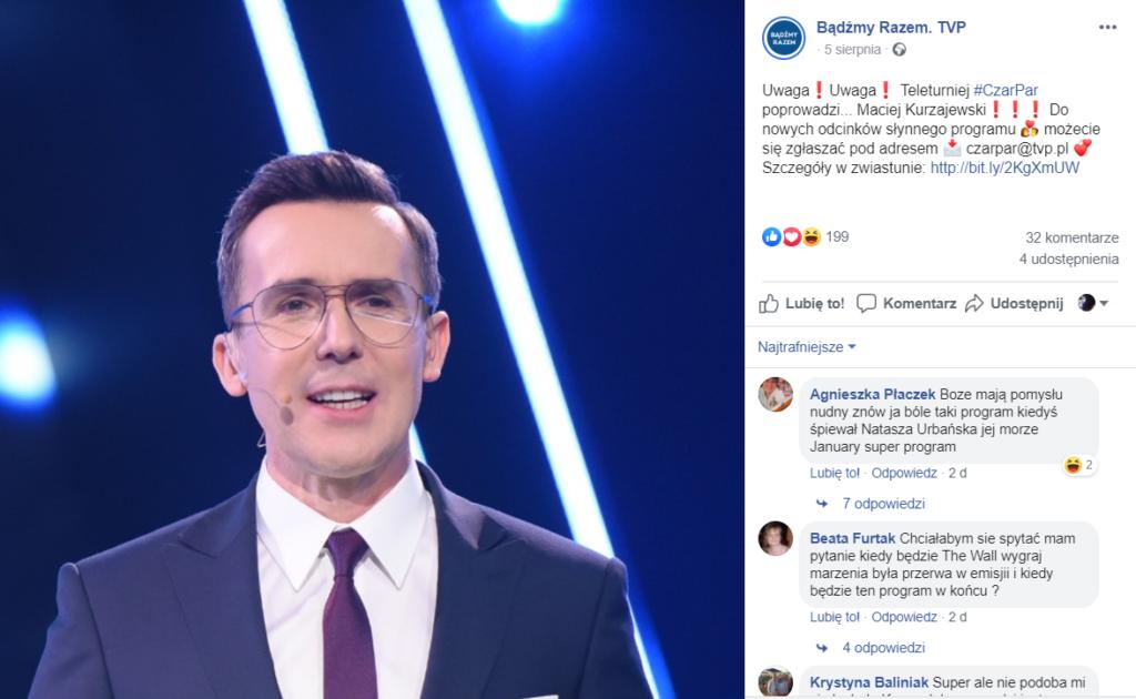 Czar par powraca, ale nie będzie go prowadził Krzysztof Ibisz, TVP podaje na Facebook, że będzie to Maciej Kurzajewski, plotkuje się, że także Kurdej Szatan