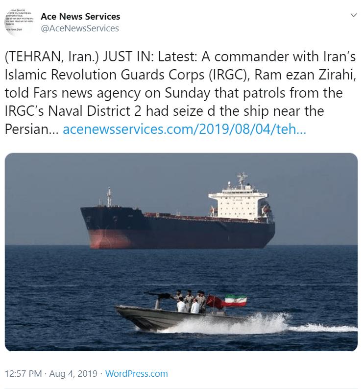 Czy wybuchnie III wojna światowa którą wywoła Iran i USA? Na Twitter informacja, że Wielka Brytania też jest poszkodowana przez Irańska Gwardia Rewolucyjna.