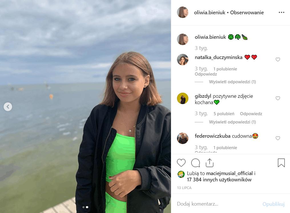 Córka Przybylskiej Oliwia Bieniuk coraz bardziej ją przypomina. Zobacz jej foto na Instagram. Jarosław Bieniuk oskarżony o gwałt, jest raczej niewinny.