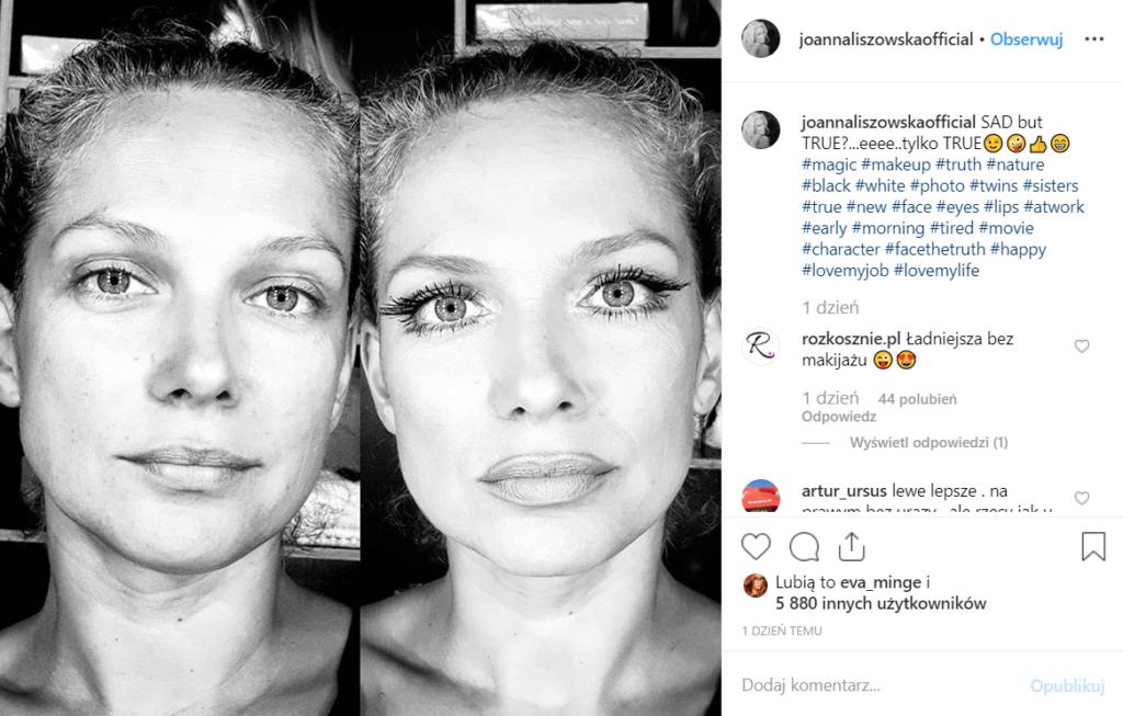 """Liszowska pozuje bez makijażu na Instagram. Gwiazda Polsat i serialu """"Przyjaciółki"""" wydała niedawno singiel """"Into U"""", który nie zyskał przychylności fanów."""