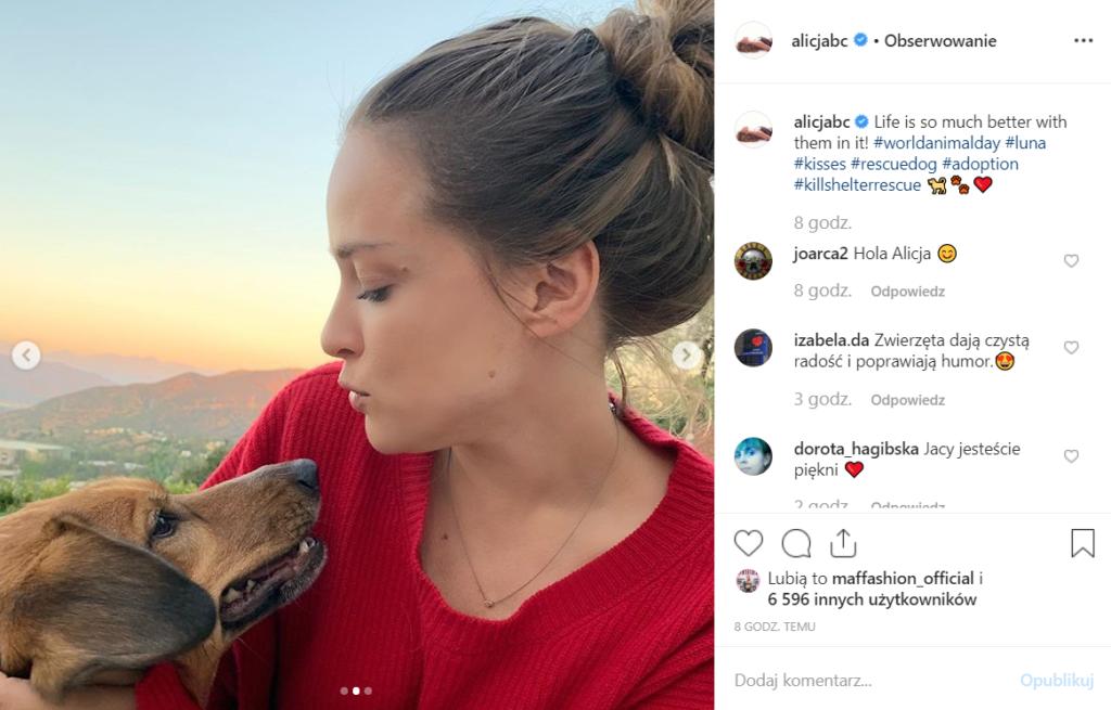 Alicja Bachleda- Curuś (Ondine, Los Angeles) postanowiłą, że adopcja psa to najlepsze rozwiązanie, jej syn jest zachwycony. Pokazała foto na Instagram.