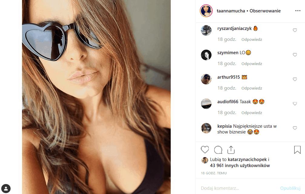 """Anna Mucha pokazuje piersi na potralu Instagram! Czy gwieździe takich seriali TVP2, jak """"M jak miłość"""" i """"Za marzenia"""" przystoi taki zachowanie?"""