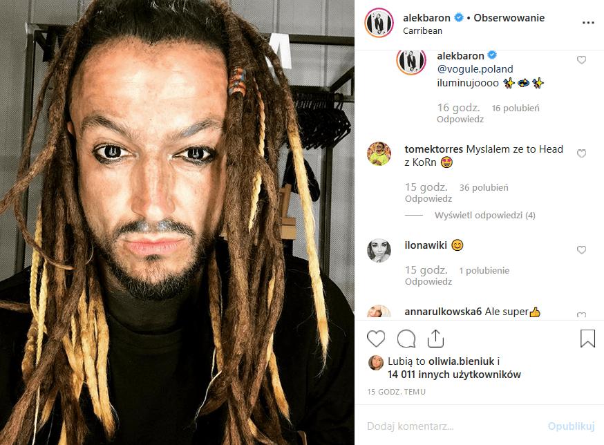 """Profil Instagram gitarzysty Afromental opublikował zdjęcie, na którym Baron wygląda jak Jack Sparrow. Czy trener """"The Voice of Poland"""" to nasz Johnny Depp?"""