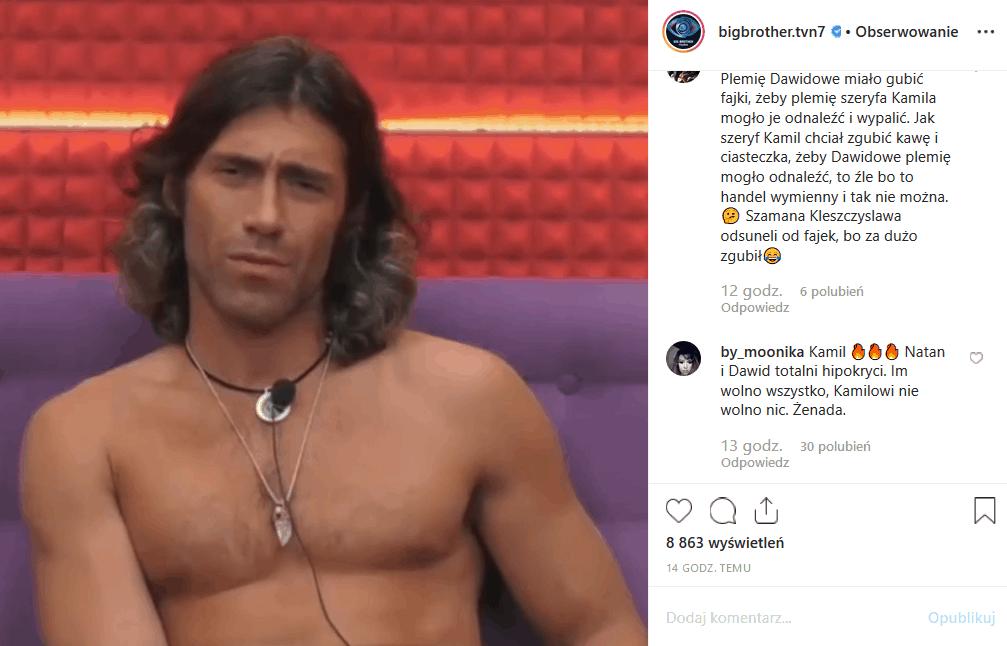 """Co przyniesie widzom """"Big Brother"""" 23 października (TVN7)? Czy Kamil Lemieszewski znów znajdzie się w centrum skandalu? Facebook i Instagram wrze."""