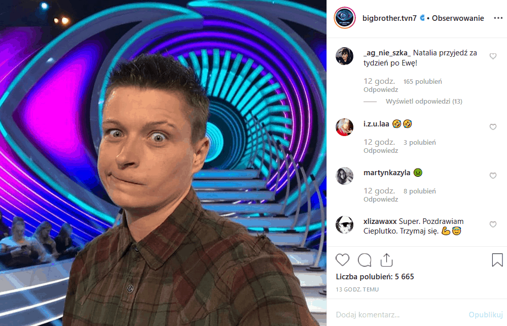 """Nowy """"Big Brother"""" dziś, 28 października na TVN7. """"Co tym razem zrobi Kamil Lemieszewski?"""" pytają fani na portalach Facebook i Instagram."""