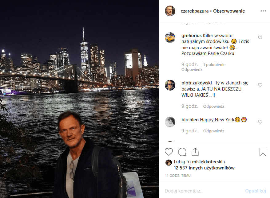 """Cezary Pazura i wpadka? Czy Kiler i gwiazda nowego filmu """"Futro z Misia"""" faktycznie odwiedził Nowy Jork? Instagram turla się ze śmiechu."""