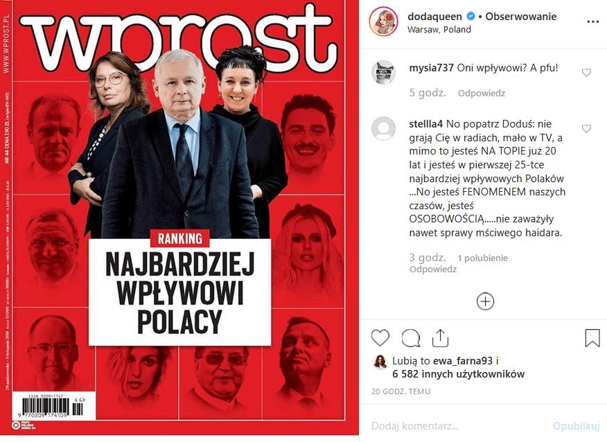 """Dorota """"Doda"""" Rabczewska 24 w rankingu Wprost! Instagram oszalał. Co takiego zrobiła wokalistka """"Virgin"""" i uczestniczka programu """"Bar"""", że jest taka sławna?"""