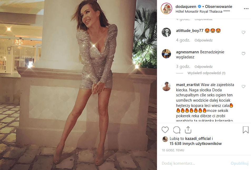 """Dorota """"Doda"""" Rabczewska spędza wakacje w Tunezji. Na swój Instagram, wokalistka Virgin i uczestniczka show """"Bar"""" wrzuciła zdjęcie, które rozpaliło sieć."""