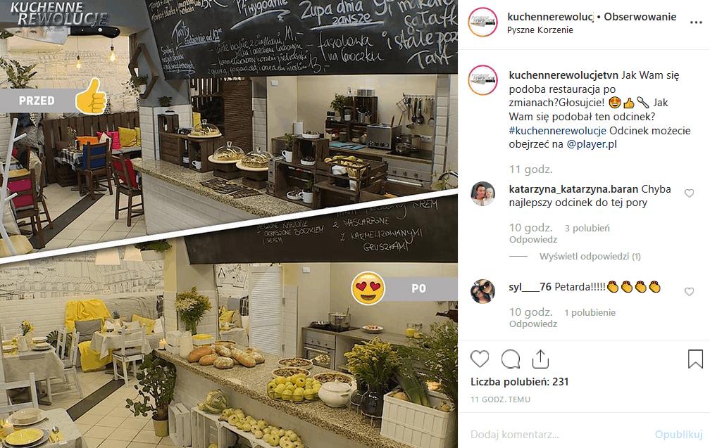 """Magda Gessler i """"Kuchenne rewolucje"""" odwiedzają Wrocław. """"Bistro Pyszne Korzenie"""" to sukces jurorki """"MasterChef"""". Instagram programu pokazuje efekty."""