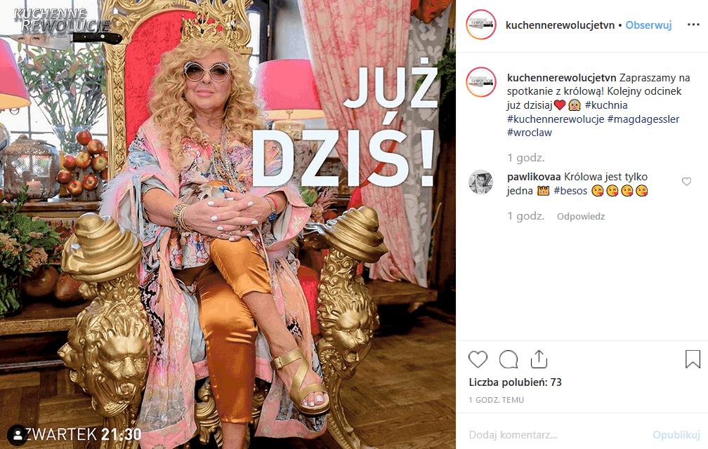 """""""Kuchenne rewolucje"""" i Magda Gessler odwiedzają Wrocław. Królowa TVN poinformowała o tym na swoim profilu Instagram. Co zastanie tam gwiazda """"MasterChef""""?"""
