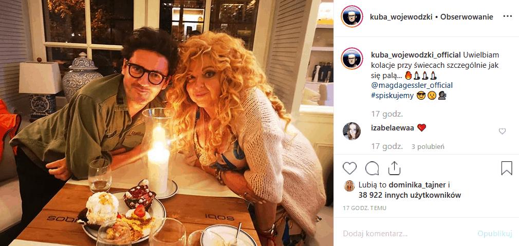 """Król i Królowa TVN zjedli kolację. Zdjęcie ze spotkania Wojewódzki Gessler rozpaliło Instagram. Chodzi o """"Kuchenne rewolucje"""" w knajpie Kuby?"""
