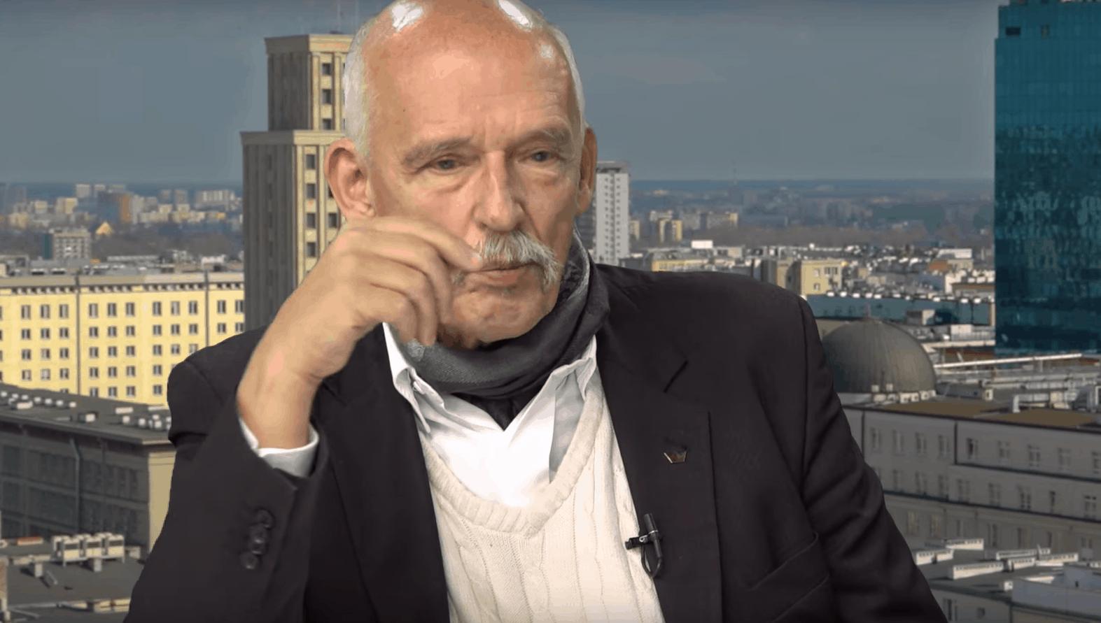 Janusz Korwin Mikke słynie ze swoich kontrowersyjnych wypowiedzi. Na jego słowa zareagował Dominik Tarczyński, który wzywał go na pojedynek.