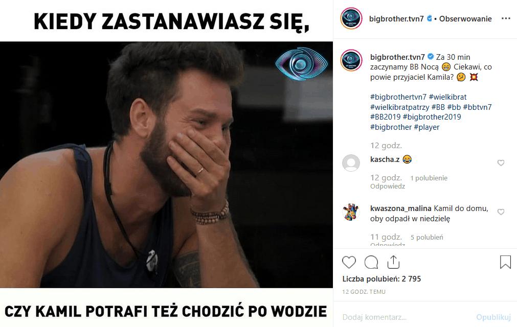 """""""Big Brother"""" na TVN 7 to plejada niezwykłych ludzi. Najbardziej niezwykły jest Kamil Lemieszewski. Instagram zalały memy o nim. Zobacz czemu."""