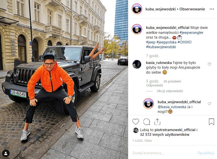 """Cała sieć żyje plotkami, że Mucha i Wojewódzki znów są razem. Czy Król TVN, gospodarz """"Kuba Wojewódzki show"""" wrzucił na Instagram potwierdzające to zdjęcie?"""