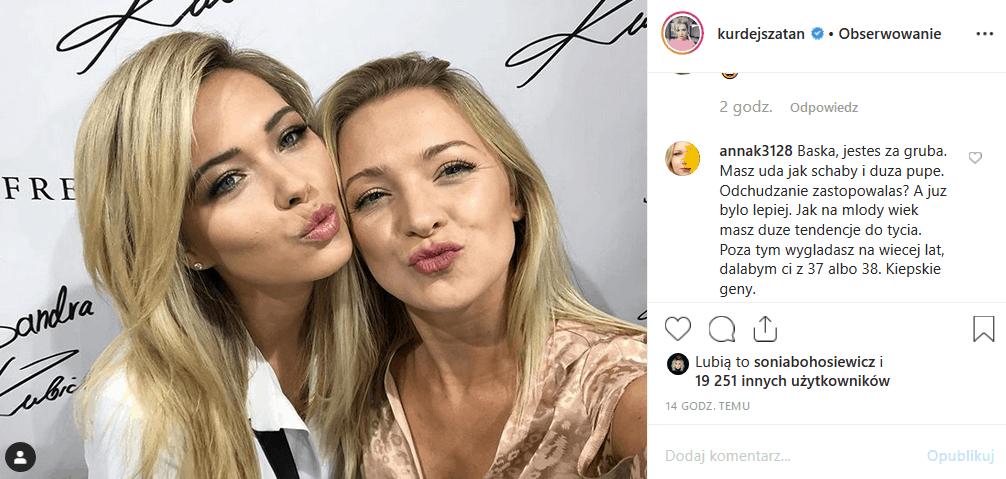 """Hejt na Barbarę Kurdej Szatan w serwisie Instagram nie ustaje. Komu zależy, by zniszczyć gwiazdę """"M jak miłość"""" (TVP) i """"Taniec z gwiazdami"""" (Polsat)."""